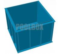 Чаша бассейна из полипропилена, 2,0*2,0*1,5 м.