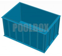 Чаша бассейна из полипропилена, 3,0*2,0*1,5 м.