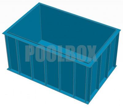 Полипропиленовый бассейн 3,0*2,0*1,5 м.