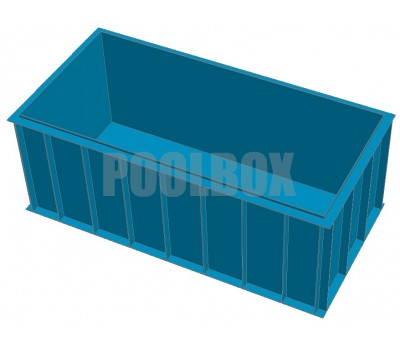Чаша бассейна из полипропилена, 4,0*2,0*1,5 м.