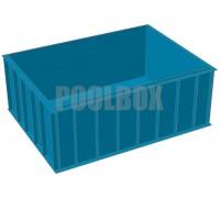 Чаша бассейна из полипропилена, 4,0*3,0*1,5 м.