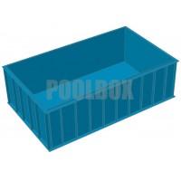 Чаша бассейна из полипропилена, 5,0*3,0*1,5 м.