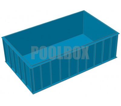 Полипропиленовый бассейн 5,0*3,0*1,5 м.