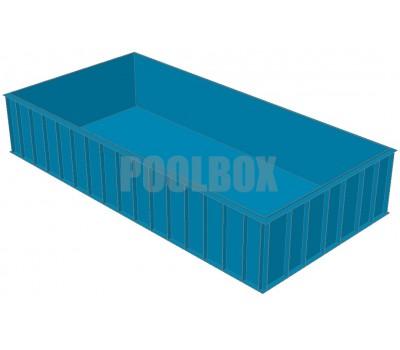 Полипропиленовый бассейн 8,0*4,0*1,5 м.