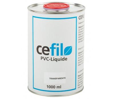 Уплотнитель швов (жидкий ПВХ) прозрачный (transparense) 1л., Cefil