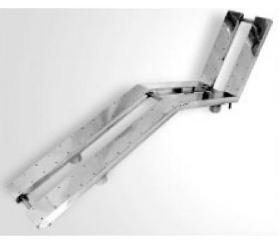 Лежак аэромассажный для бассейна двойной из нерж стали, под плитку, АТ 02.15, Акватехника, Россия
