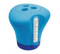 Биопоплавок дозатор Kokido K619BU (табл. 75 мм) синий с термометром