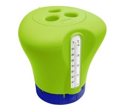 Биопоплавок дозатор Kokido K619BU (табл. 75 мм) зеленый с термометром