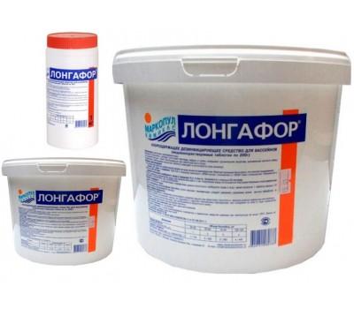 ЛОНГАФОР медленный хлор (табл. 200г) химия для обеззараживания воды в бассейне