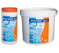 """МУЛЬТИЭКТ """"5 в 1"""", таблетки 200 г. химия для комплексного обеззараживания воды в бассейне"""
