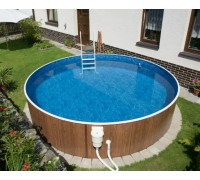 Каркасный бассейн AZURO 402 DL д. 4,6х1.2 м. (круг), Mountfield (Чехия), (каркас, скиммер, лестница, фильтрация)