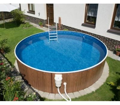 Каркасный бассейн AZURO 402 DL д. 4,6х1.2 м. (круг), Mountfield (Чехия), (каркас, чашковый пакет ПВХ)