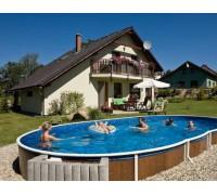 Каркасный бассейн AZURO 405 DL д. 7.3x3.7х1.2 м. (овал), Mountfield