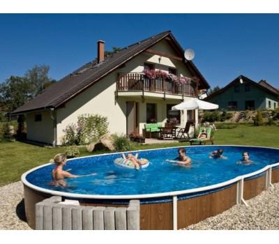Каркасный бассейн AZURO 405 DL д. 7.3x3.7х1.2 м. (овал), Mountfield (Чехия), (каркас, чашковый пакет ПВХ)