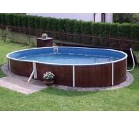 Каркасный бассейн AZURO 404 DL д. 5.5x3.7х1.2 м. (овал), Mountfield