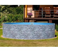 Каркасный бассейн AZURO Stone д. 3,6х1.2 м. (круг), Mountfield (каркас/пленка)