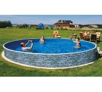 Каркасный бассейн AZURO Stone д. 4,6х1.2 м. (круг), Mountfield (каркас/пленка)