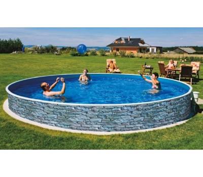 Каркасный бассейн AZURO Stone д. 4,6х1.2 м. (круг), Mountfield