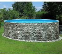 Каркасный бассейн AZURO Stone д. 4,0х1.2 м. (круг), Mountfield (каркас/пленка)