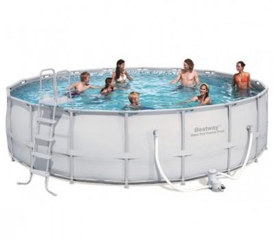 Каркасный бассейн Bestway (д.5,49x1,32 м.) 56427/56232 с картриджным фильтром
