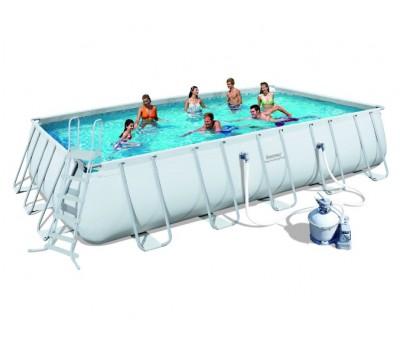Каркасный бассейн Bestway 56257 (6,71x3,96x1,32 м.) с песочным фильтром