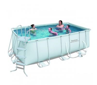 Каркасный бассейн Bestway 56456/56241 (4.12х2.01х1.22 м.) с картриджным фильтром