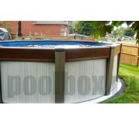 Каркасный бассейн Контемпра д. 7.30 х 1,35 м., Atlantic Pool (каркас/пленка/фильтр с насосом/скиммер/форсунка/лестница/шланги)