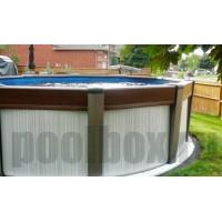 Каркасный бассейн Контемпра д. 4,60 х 1,35 м., Atlantic Pool (каркас/пленка/фильтр с насосом/скиммер/форсунка/лестница/шланги)