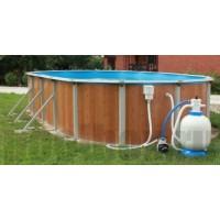 Каркасный бассейн Эсприт - Биг 5.5 х 3,7 х 1,35 м., Atlantic Pool (каркас/пленка/фильтр с насосом/скиммер/форсунка/лестница/шланги)