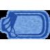 Композитный бассейн Доминика 5,00*2,95*1,70 м., Голубая Лагуна (Россия/США), цвет голубой