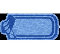 Композитный бассейн Изабель 6,58*2,80*1,48 м., Голубая Лагуна