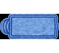 Композитный бассейн Марокко 8,00*3,18*1,48 м., Голубая Лагуна