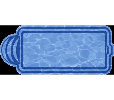 Композитный бассейн Марокко 8,00*3,18*1,48 м., Голубая Лагуна (Россия/США), цвет голубой