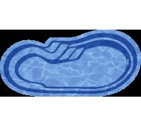 Композитный бассейн Марсель 8,00*3,50*1,00-1,65 м., Голубая Лагуна