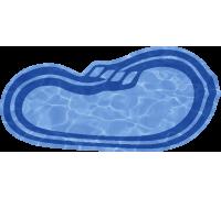 Композитный бассейн Оливия 6,40*3,20*1,20-1,60 м., Голубая Лагуна