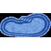 Композитный бассейн Оливия 6,40*3,20*1,20-1,60 м., Голубая Лагуна (Россия/США), цвет голубой