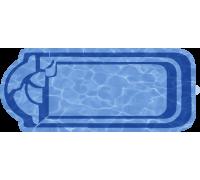 Композитный бассейн Ребекка 7,70*3,15*1,52 м., Голубая Лагуна