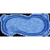 Композитный бассейн Севилья 6,20*3,35*1,20-1,60 м., Голубая Лагуна (Россия/США), цвет голубой