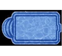 Композитный бассейн София 5,00*3,00*1,63 м., Голубая Лагуна