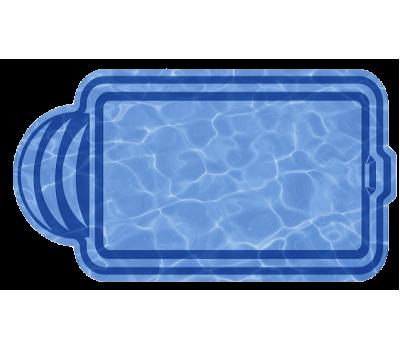 Композитный бассейн София 5,00*3,00*1,63 м., Голубая Лагуна (Россия/США), цвет голубой