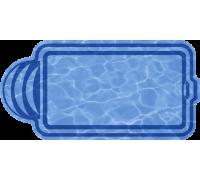 Композитный бассейн Валенсия 6,00*3,00*1,48 м., Голубая Лагуна