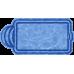 Композитный бассейн Валенсия 6,00*3,00*1,48 м., Голубая Лагуна (Россия/США), цвет голубой
