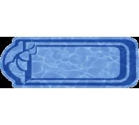 Композитный бассейн Ванесса 8,20*3,44*1,53 м., Голубая Лагуна