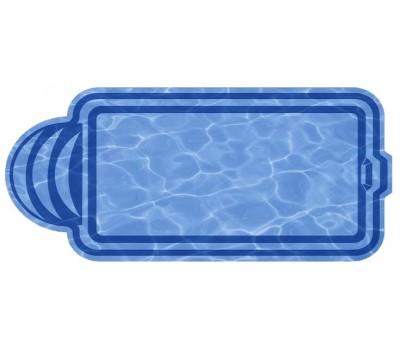 Композитный бассейн Верона 7,05*3,22*1,51 м., Голубая Лагуна (Россия/США), цвет голубой