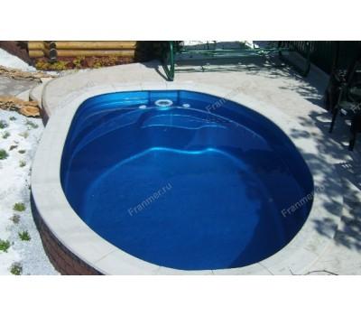 Композитный бассейн Лион 4,50*3,00*1,48 м., Франмер (Россия/Франция), цвет на выбор