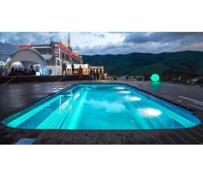 Композитный бассейн Ривьера 12,0*4,4*1,55*1,84 м., Франмер (Россия/Франция), цвет на выбор
