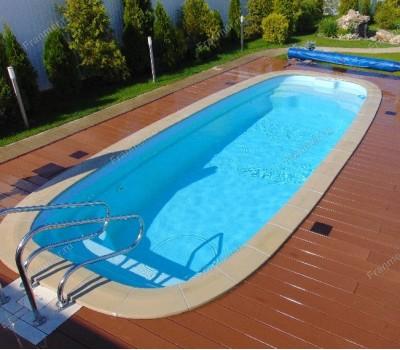 Композитный бассейн Тулон 8,00*3,00*1,55 м., Франмер (Россия/Франция), цвет на выбор