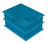 Полипропиленовая купель 1,5 х 0,8 х 1,2 м.