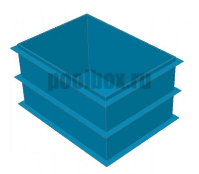 Купель для бани, 1,5 х 0,8 х 1,2 м., из полипропилена (пластика), PoolBox