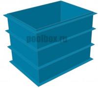 Купель для бани, 1,5 х 0,8 х 1,5 м., из полипропилена